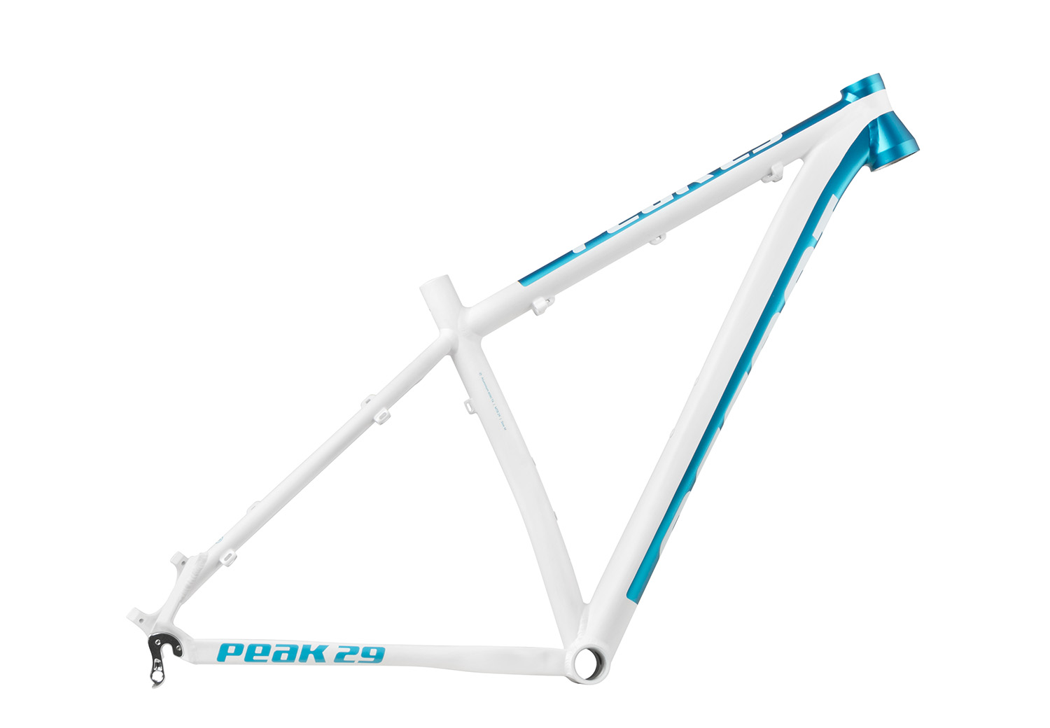 accent frame peak lady 29 white turquoise